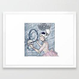 Marie Antoinette Halloween Select Color Framed Art Print