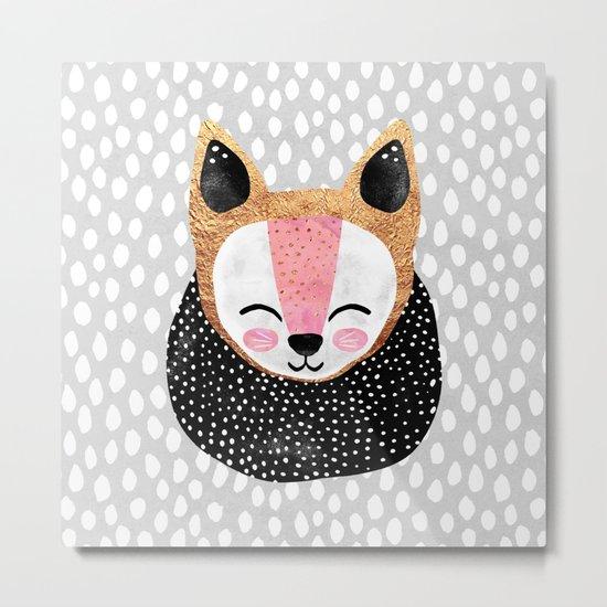 Little Arctic Fox Metal Print