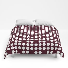 White dots on burgundy red Comforters