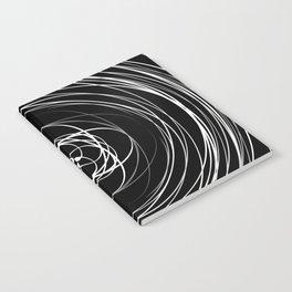 Black White Swirl Notebook