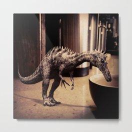 Thirsty Dino Metal Print