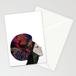 Space Hair Stationery Cards