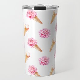 Floral Cones Travel Mug