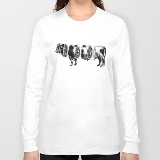 Deconstructed cow Long Sleeve T-shirt