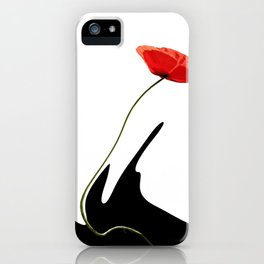 Moving poppies iPhone Case