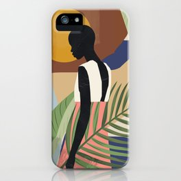 Tropical Girl 2 iPhone Case