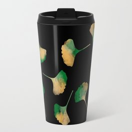 Ginkgo biloba leaves black Travel Mug