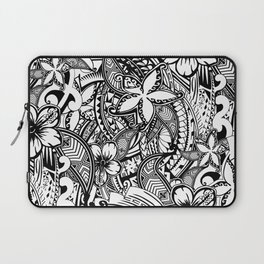 Hawaiian Polynesian Trbal Tatoo Print Laptop Sleeve