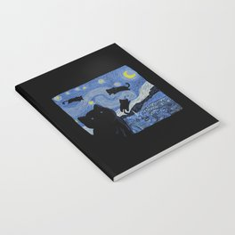 The Starry Cat Night Notebook