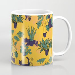Cats and Houseplants: Yellow Coffee Mug