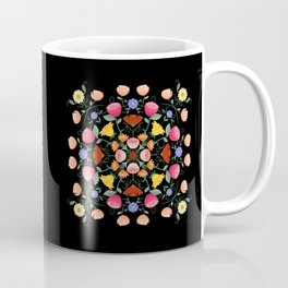 Folk Art Inspired Garden Of Fantastic Floral Delight Coffee Mug