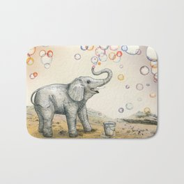 Elephant Bubble Dream Bath Mat