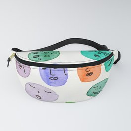 TRIBAL FACES Fanny Pack