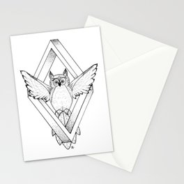 Infinite Owl Stationery Cards