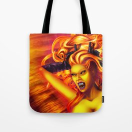Mad Dolores Goddess of fire Tote Bag