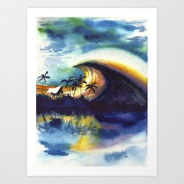 Storm ridge Reef Art Print