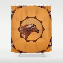HORSE - An Appaloosa called Ginger Shower Curtain