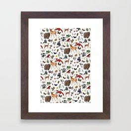 Wild Woodland Animals Framed Art Print