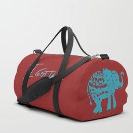 I got this blue elephant Duffle Bag