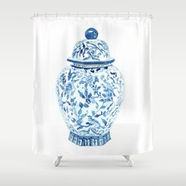 GINGER JAR NO. 5 PRINT Shower Curtain