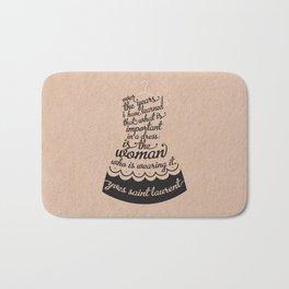 Little Black Dress Bath Mat