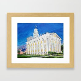 Nauvoo Illinois LDS Temple Framed Art Print