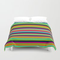 stripe Duvet Covers featuring Stripe by Aimee St Hill