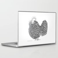 funky Laptop & iPad Skins featuring Zentangle  Illustration - Funky Chicken by Vermont Greetings