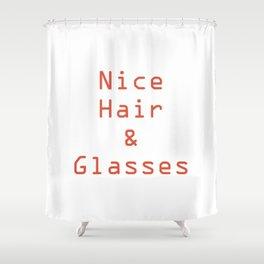 Yassssssssssss. Dat hair. Those glasses. Shower Curtain