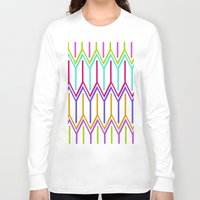 large Long Sleeve T-shirts featuring LARGE GEO by Louisa Hereford