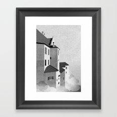 Castle in the Sky | Black & White Framed Art Print