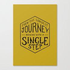 A SINGLE STEP Canvas Print