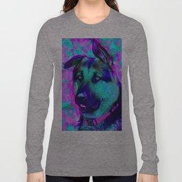 Artistic Dog Expression Long Sleeve T-shirt