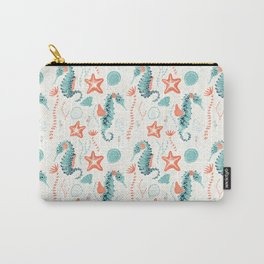 Swim Your Way. Seahorse Light Carry-All Pouch