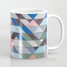 Triangle Pattern No. 7 Diagonals Coffee Mug