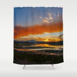 Smoky Sunrise Over the Back Bay Shower Curtain