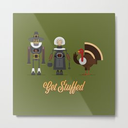 Get Stuffed Metal Print