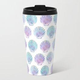 iridescent shells pattern Travel Mug