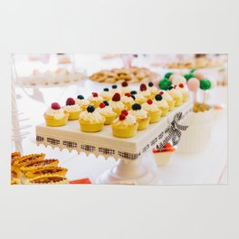 Fruit Cupcake Cookies At Wedding Candy Bar Rug