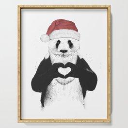 Santa panda Serving Tray