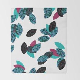 Aztec leafs Ioo Throw Blanket