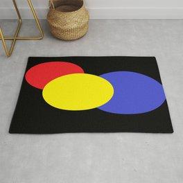 Red Yellow & Blue : Mod Circles Rug