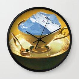 Ski time Wall Clock