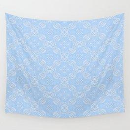 Z Lace 2B - Light Blue Wall Tapestry
