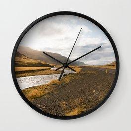 Iceland Ring Road  - Minimalist Fine Art Photo Print Wall Clock