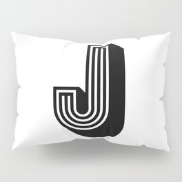 Letter J Pillow Sham