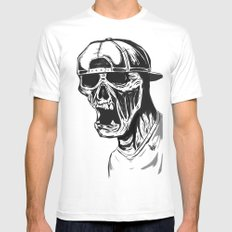 SNAPBACK EDIT Mens Fitted Tee White MEDIUM