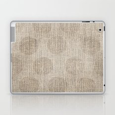 Poka dot burlap (Hessian series 2 of 3) Laptop & iPad Skin