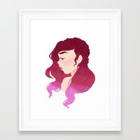 burgundy Framed Art Prints featuring Burgundy by Tori Dubis