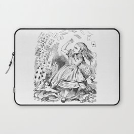 Alice's card attack Laptop Sleeve
